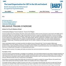 Religious Trauma Syndrome: Trauma from Religion