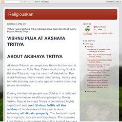 Religiouskart: Vishnu Puja at akshaya Tritiya