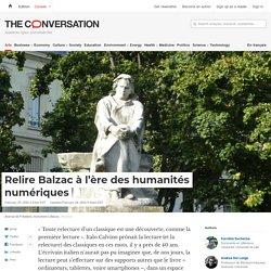 Relire Balzac à l'ère des humanités numériques