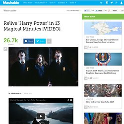 Relive 'Harry Potter' in 13 Magical Minutes [VIDEO]