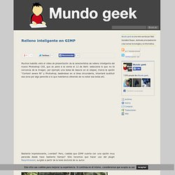 Relleno inteligente en GIMP