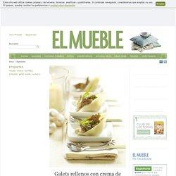 Galets rellenos con crema de setas · ElMueble.com · Especiales