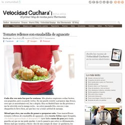 Tomates rellenos con ensaladilla de aguacate con Telva
