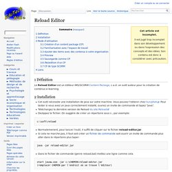 Reload Editor