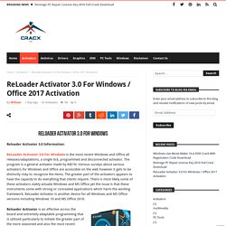ReLoader Activator 3.0 For Windows / Office 2017 Activation