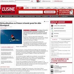 Relocalisation en France réussie pour les skis Rossignol - Articles de sport