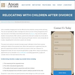 Relocating with Children after Divorce