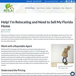 Help! I'm Relocating and Need to Sell My Florida Home
