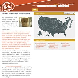 Relocation Guide for U.S. Cities by 123 Relocation .com