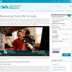Relocation from USA to India Service by Sky2c Freights Systems