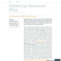 Dedicated removals in Edinburgh