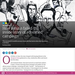 How remain failed: the inside story of a doomed campaign