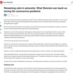 Remaining calm in adversity: What Stoicism can teach us during the coronavirus pandemic