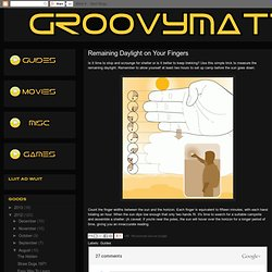 GROOVY MATTER: Remaining Daylight on Your Fingers