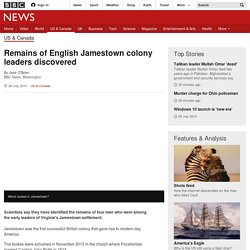 Remains of English Jamestown colony leaders discovered