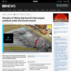 Remains of Viking ship found in Norwegian paddock under lost burial mound