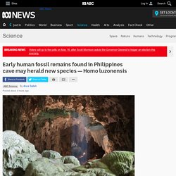 Early human fossil remains found in Philippines cave may herald new species — Homo luzonensis - Science News - ABC News