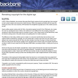 Remaking copyright for the digital age