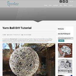 Yarn Ball DIY Tutorial