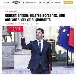 Libération - Remaniement: quatre sortants, huit entrants, six changements