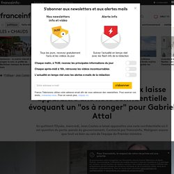 """Remaniement: Jean Castex laisse apparaître une note confidentielle évoquant un """"os à ronger"""" pour Gabriel Attal"""