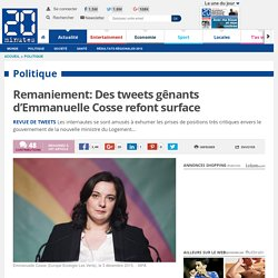 Remaniement: Des tweets gênants d'Emmanuelle Cosse refont surface