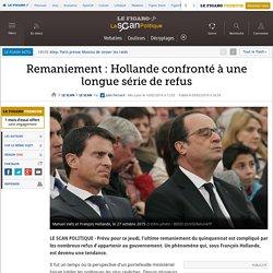 Remaniement : Hollande confronté à une longue série de refus