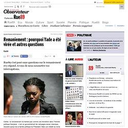 Remaniement : pourquoi Yade a été virée et autres questions