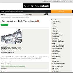 Remanufactured 4l80e Transmissions