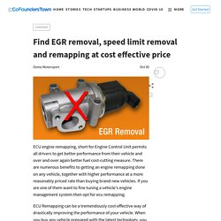 Find EGR removal, speed limit removal and remapping at cost effective price