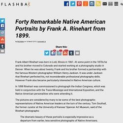 Forty Remarkable Native American Portraits by Frank A. Rinehart from 1899. - Flashbak Flashbak