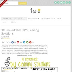 10 Remarkable DIY Cleaning Solutions