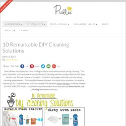 10 Remarkable DIY Cleaning Solutions - Picklee