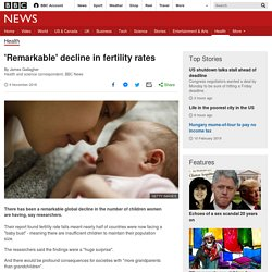 'Remarkable' decline in fertility rates