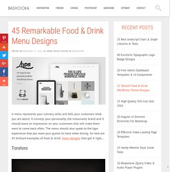 45 Remarkable Food & Drink Menu Designs