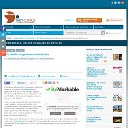 ReMarkable, un gestionnaire de devoirs