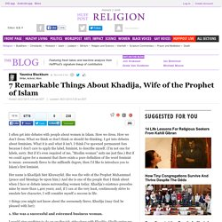 7 Remarkable Things About Khadija, Wife of the Prophet of Islam