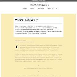 MOVE: Briefing: Move Slower