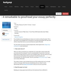 4 remarkable to proofread your essay perfectly