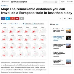 Map: The remarkable distances you can travel on a European train in less than a day