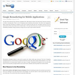 Google Remarketing for Mobile Applications