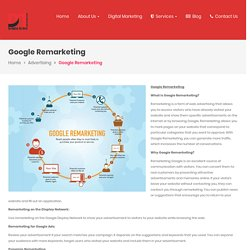 Google Remarketing Agency and company in Indore