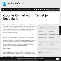 Google Remarketing: Target je bezoekers