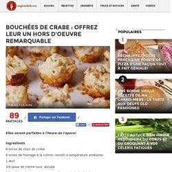 Bouchées de crabe : Offrez leur un hors d'oeuvre remarquable - Ma Fourchette