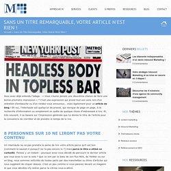 Blog de Markentive, agence de Content marketing à Paris