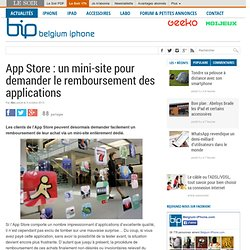 App Store : un mini-site pour demander le remboursement des applications