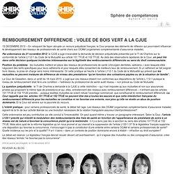 REMBOURSEMENT DIFFERENCIE : VOLEE DE BOIS VERT A LA CJUE