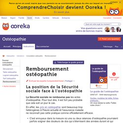 Remboursement ostéopathie : la prise en charge des séances d'ostéo
