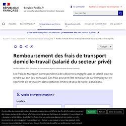 Remboursement des frais de transport domicile-travail (secteur privé)