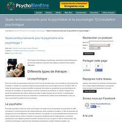 Quels remboursements pour la psychiatrie et la psychologie?